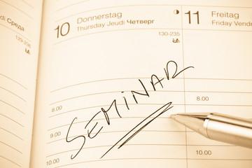 Eintrag im Kalender: Seminar