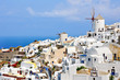 Oia white houses and windmills