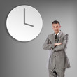 Businessman and time.Business concept