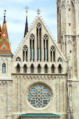Gothic cathedral at Castle of Buda, Budapest, Hungary