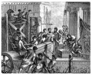 Ancient Greece Scene : Building a Temple