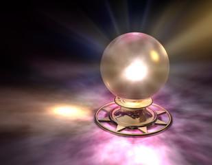 Kristallkugel Gold