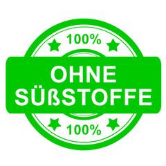 Stempel rund grün - 100% ohne Süßstoffe