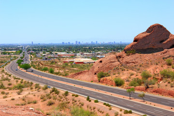 Road to Phoenix Downtown from Scottsdale, AZ