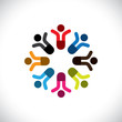 Concept vector graphic- social media communication & people icon