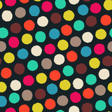 Seamless color pattern with grunge circles