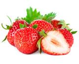Beautiful ripe red strawberries