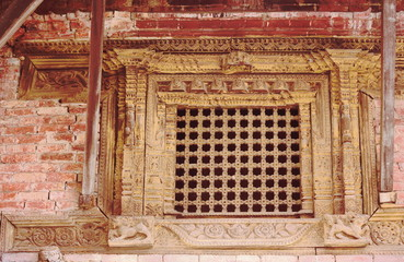 Latticed window in the Royal Palace. Bhaktapur-Nepal. 0242
