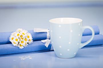 blauer kaffeepott