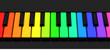 Die bunten Pianotasten