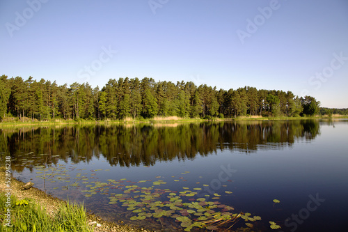Beautiful Valguma lake not far from Tukums, Latvia.