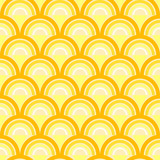 Seamless geometric pattern with waves in retro style.