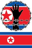 Violation of human rights in North Korea poster