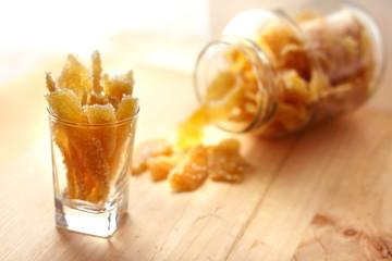 Caramelized stem ginger