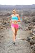 Healthy lifestyle runner woman trail running