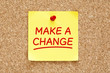 Make a Change Sticky Note