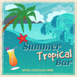 Poster of vintage seaside tropical bar