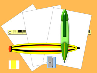 Cuartillas bolígrafo