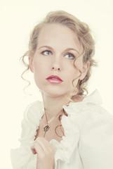 beautiful romantic blonde woman
