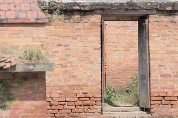Small door on the wall. Royal Palace-Bhaktapur-Nepal. 0254