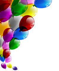 Palloncini festa biglietto auguri