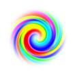 canvas print picture - spirale multicolore