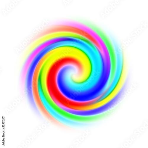canvas print picture spirale multicolore