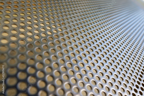 Shiny metal hole mesh pattern