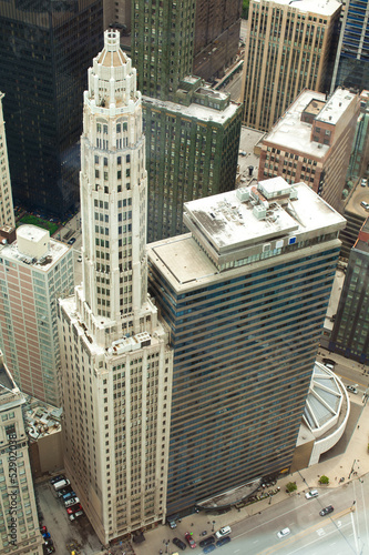 Foto op Aluminium Grote meren Chicago. Aerial view of Chicago downtown.
