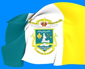 Flag of Yellowknife, Canada.