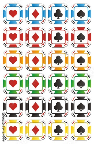 poker chip button apps