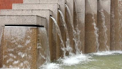 Granite Marble Water Fountain in Public Square Garden