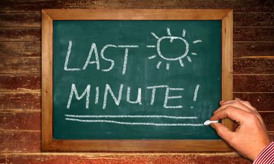 Kreidetafel - Last Minute