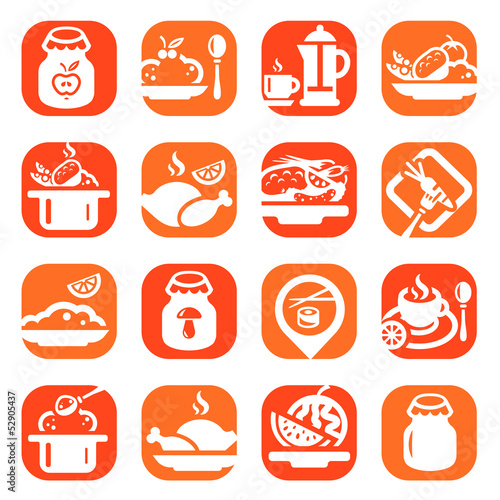 color food vector icons - 52905437