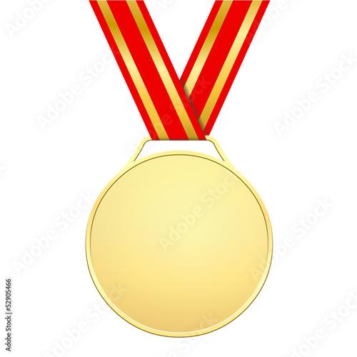 Médaille d'or sans motifs