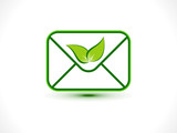 abstract eco mail icon