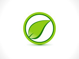 abstract eco stop icon