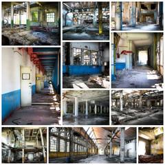fabbrica dismessa collage