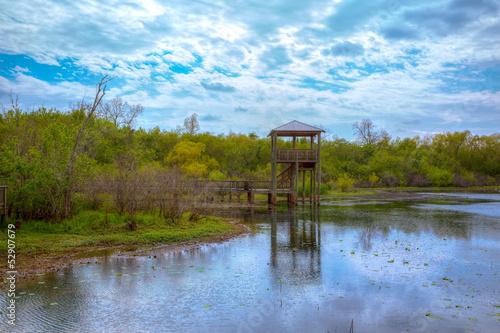Fotobehang Texas White Lake at Cullinan Park in sugarland Texas