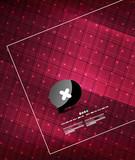 Modern glossy geometrical techno design