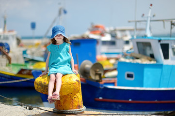 Adorable little girl at fisherman village