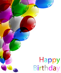 Palloncini festa biglietto auguri compleanno