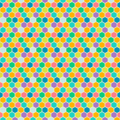 Mosaic seamless patterns in retro style. Soft colors.