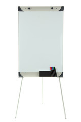 Empty flipchart isolated on white