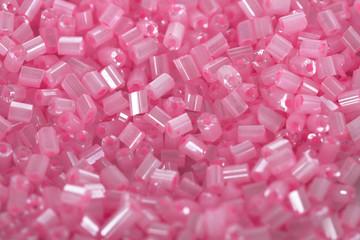 Pink beads close-up