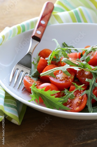 salad with cherry tomatoes and arugula