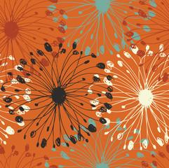 Orange grunge radial pattern