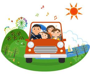 家族でドライブ(夏)