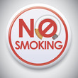 NO SMOKING - Vector Pin / Button Badge