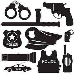 police equipmen vector